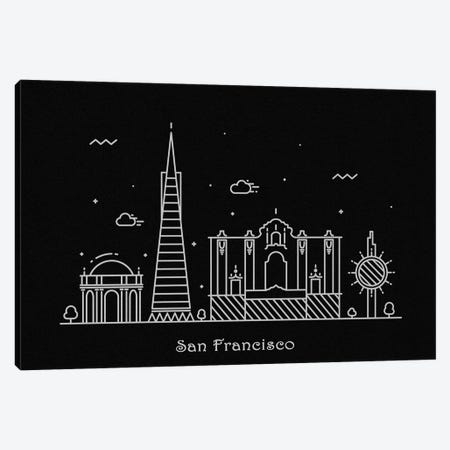 San Francisco Canvas Print #ADA104} by Ayse Deniz Akerman Art Print