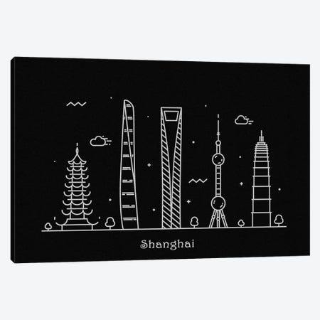 Shanghai Canvas Print #ADA105} by Ayse Deniz Akerman Canvas Print