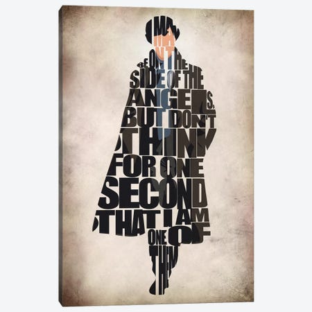 Sherlock Canvas Print #ADA106} by Ayse Deniz Akerman Canvas Art Print
