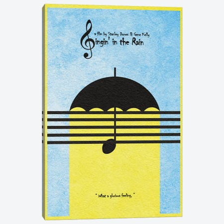 Singing In The Rain Canvas Print #ADA107} by Ayse Deniz Akerman Canvas Art Print