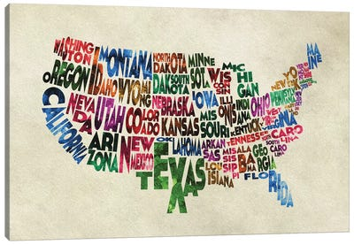 The States Canvas Art Print