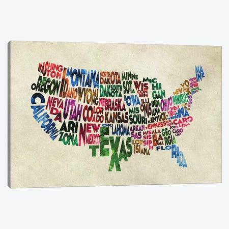 The States Canvas Print #ADA108} by Ayse Deniz Akerman Canvas Art
