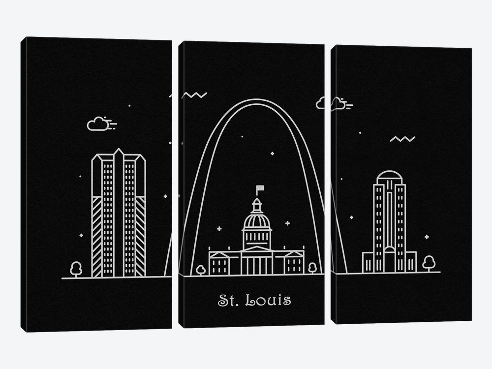St. Louis by Ayse Deniz Akerman 3-piece Canvas Print