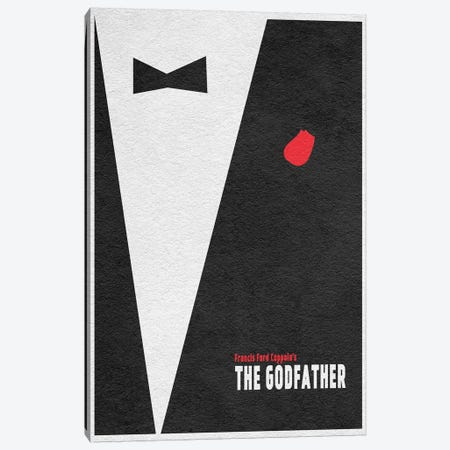 The  Godfather Canvas Print #ADA112} by Ayse Deniz Akerman Art Print