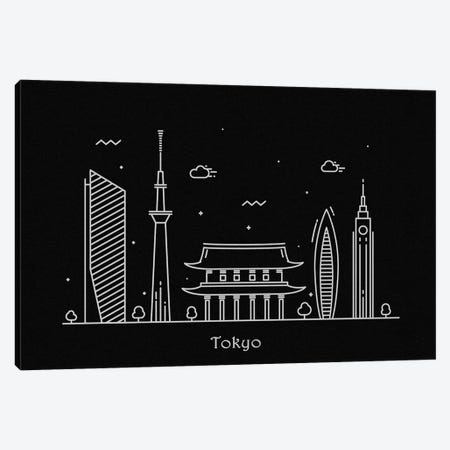 Tokyo Canvas Print #ADA116} by Ayse Deniz Akerman Canvas Artwork
