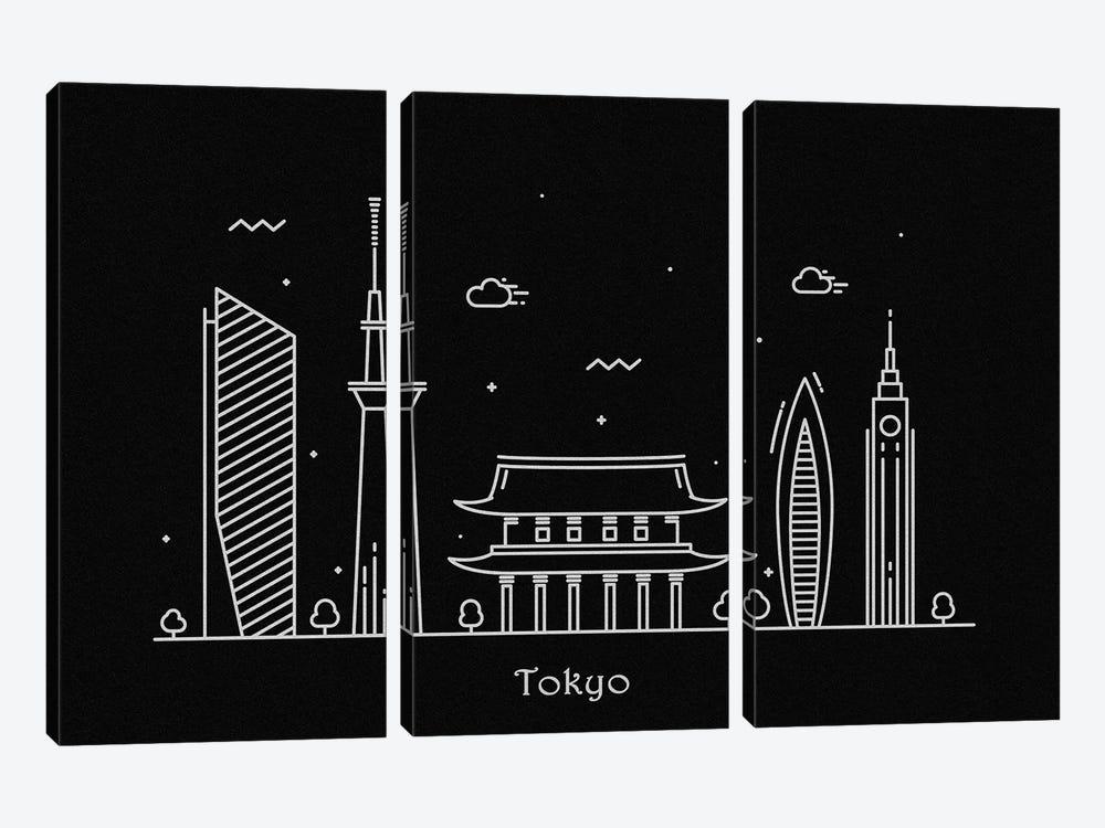 Tokyo by Ayse Deniz Akerman 3-piece Art Print