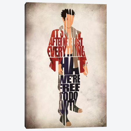 Tyler Durden Canvas Print #ADA117} by Ayse Deniz Akerman Canvas Artwork