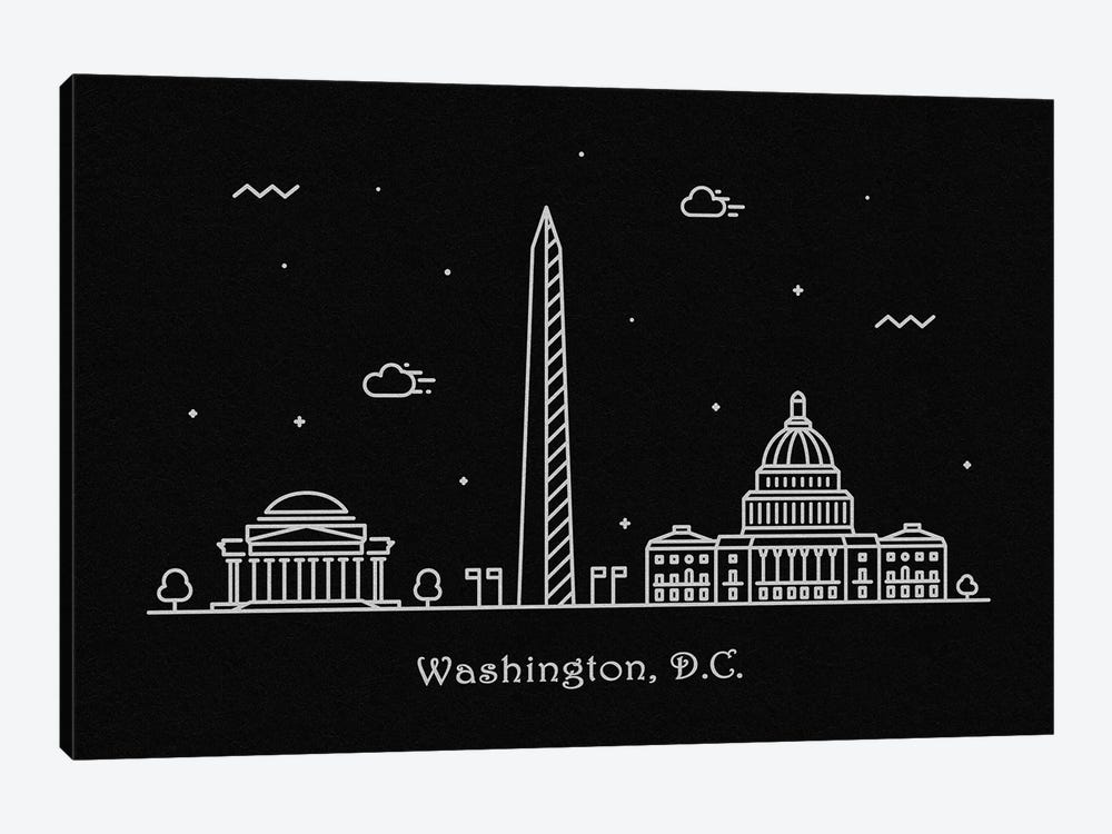 Washington, D.C. by Ayse Deniz Akerman 1-piece Canvas Wall Art