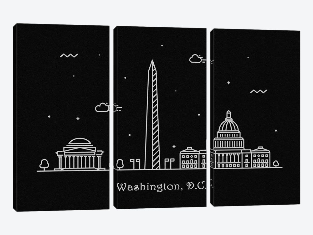 Washington, D.C. by Ayse Deniz Akerman 3-piece Canvas Artwork
