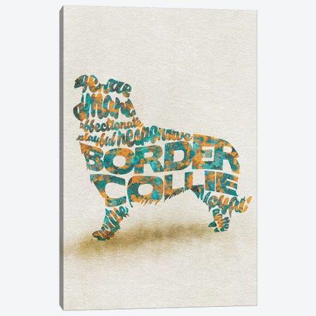 Border Collie Canvas Print #ADA12} by Ayse Deniz Akerman Canvas Artwork