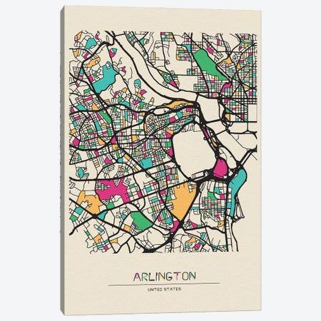 Arlington County, Virginia Map Canvas Print #ADA135} by Ayse Deniz Akerman Canvas Art