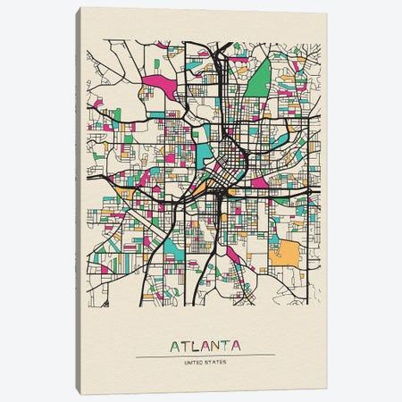 Atlanta, Georgia Map Canvas Print #ADA138} by Ayse Deniz Akerman Canvas Print