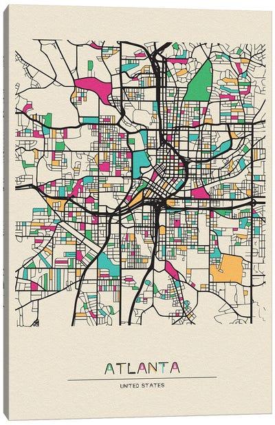 Atlanta, Georgia Map Canvas Art Print