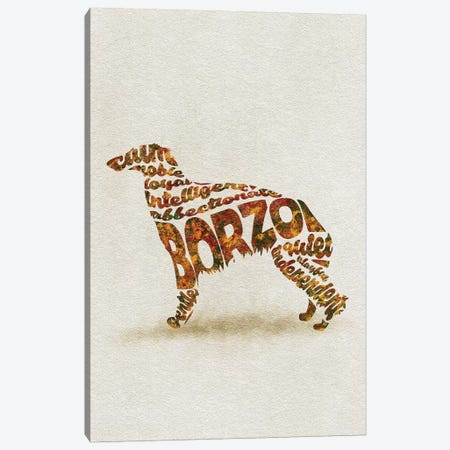 Borzo Canvas Print #ADA13} by Ayse Deniz Akerman Canvas Wall Art