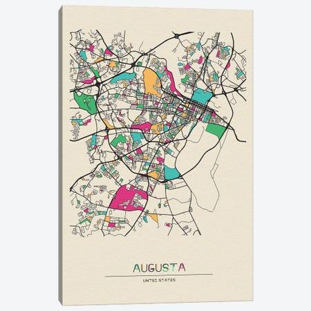 Augusta, Georgia Map Canvas Print #ADA140} by Ayse Deniz Akerman Canvas Artwork