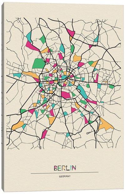 Berlin, Germany Map Canvas Art Print