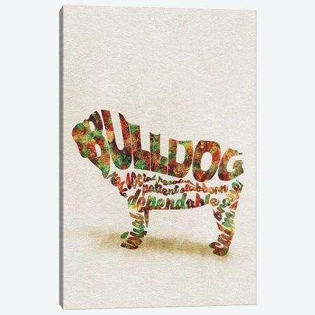British Bulldog Canvas Print #ADA15} by Ayse Deniz Akerman Canvas Print