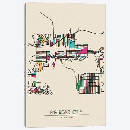 Big Bear City, California Map Canvas Print #ADA162} by Ayse Deniz Akerman Canvas Wall Art
