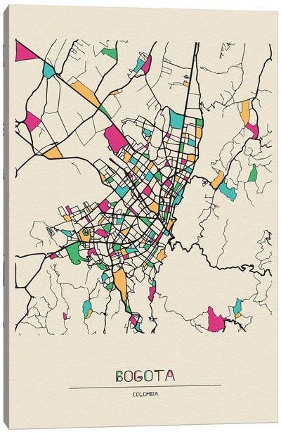 Bogota, Colombia Map Canvas Art Print