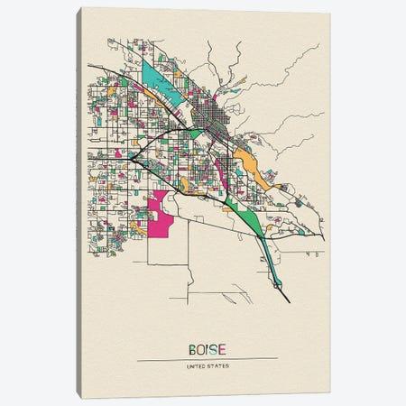 Boise, Idaho Map Canvas Print #ADA167} by Ayse Deniz Akerman Art Print