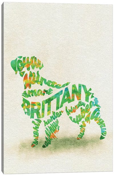 Brittany Spaniel Canvas Art Print