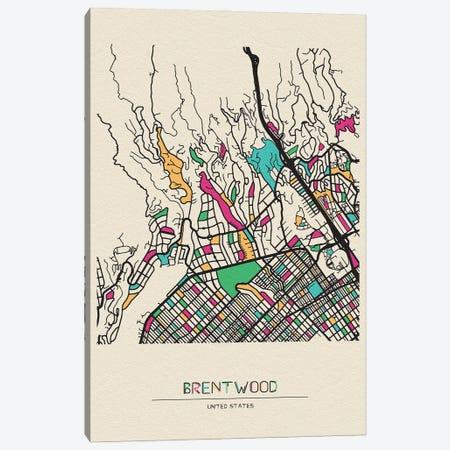 Brentwood, Los Angeles Map Canvas Print #ADA173} by Ayse Deniz Akerman Art Print