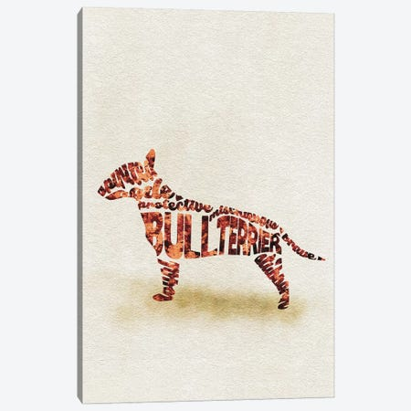 Bull Terrier Canvas Print #ADA17} by Ayse Deniz Akerman Canvas Print