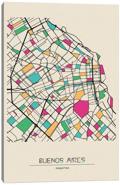 Buenos Aires, Argentina Map Canvas Art Print