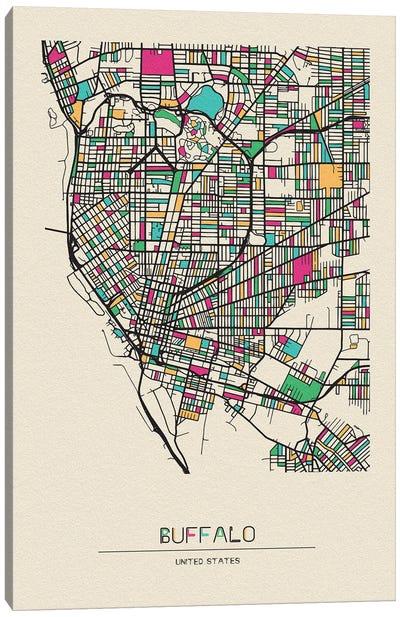 Buffalo, New York Map Canvas Art Print