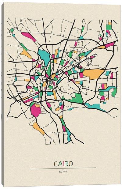 Cairo, Egypt Map Canvas Art Print