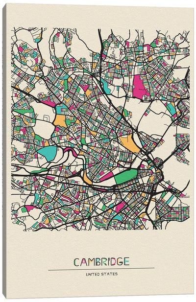 Cambridge, Massachusetts Map Canvas Art Print