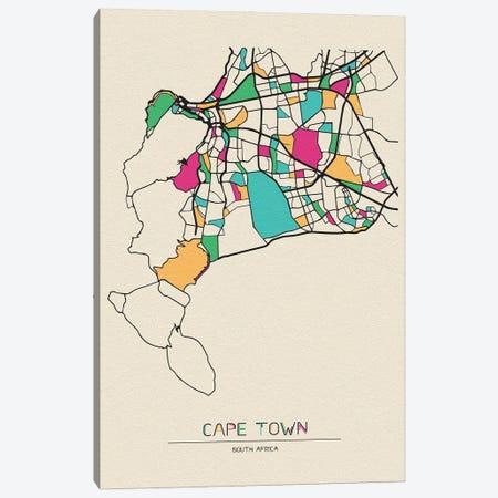 Cape Town, South Africa Map Canvas Print #ADA191} by Ayse Deniz Akerman Canvas Art Print