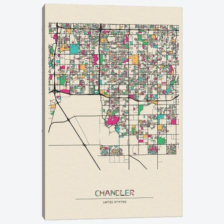 Chandler, Arizona Map Canvas Print #ADA194} by Ayse Deniz Akerman Canvas Wall Art