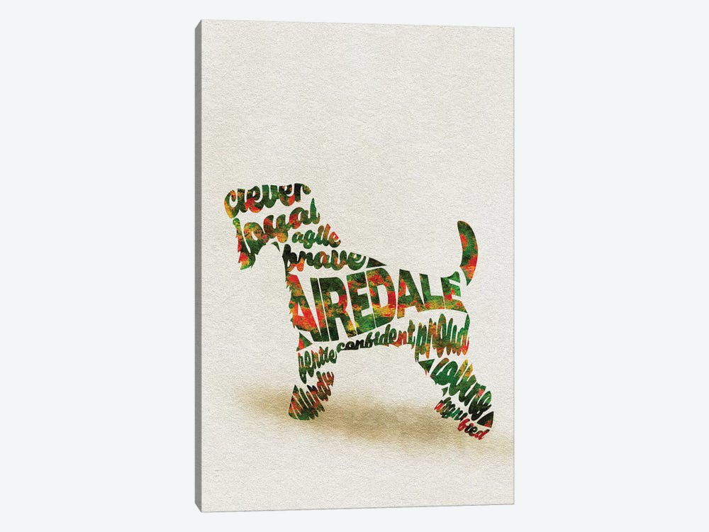 Airedale Terrier by Ayse Deniz Akerman 1-piece Canvas Wall Art