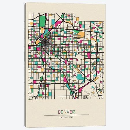 Denver, Colorado Map Canvas Print #ADA215} by Ayse Deniz Akerman Art Print