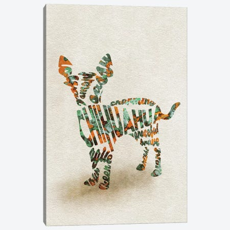 Chihuahua Canvas Print #ADA21} by Ayse Deniz Akerman Canvas Print