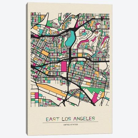 East Los Angeles, California Map Canvas Print #ADA226} by Ayse Deniz Akerman Canvas Artwork