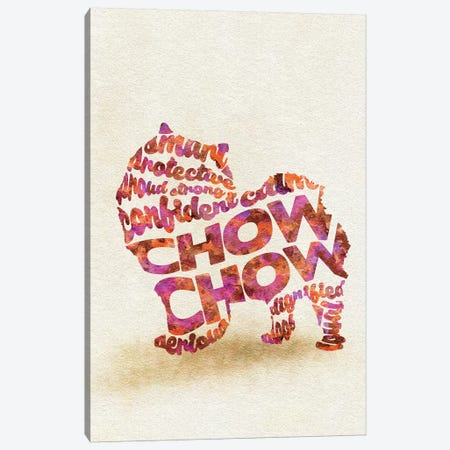 Chow Chow Canvas Print #ADA22} by Ayse Deniz Akerman Canvas Art Print