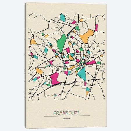 Frankfurt, Germany Map Canvas Print #ADA234} by Ayse Deniz Akerman Art Print