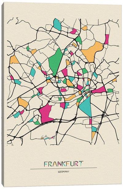 Frankfurt, Germany Map Canvas Art Print