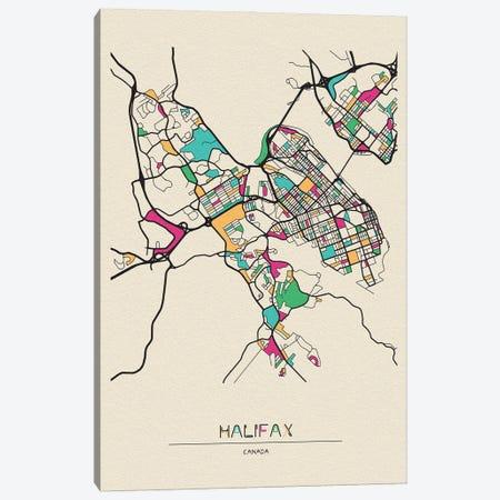 Halifax, Nova Scotia Map Canvas Print #ADA248} by Ayse Deniz Akerman Canvas Art Print