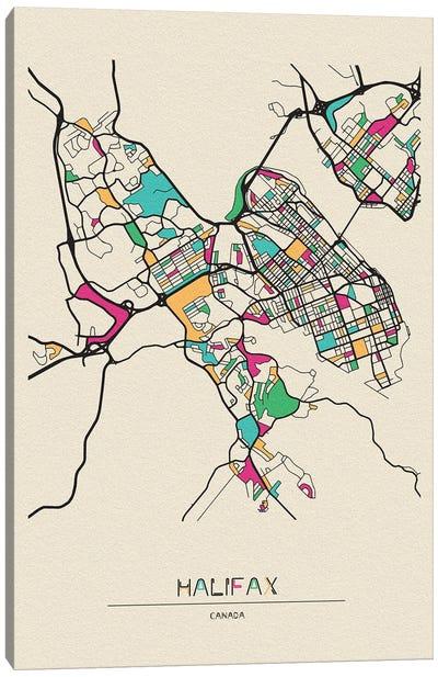 Halifax, Nova Scotia Map Canvas Art Print