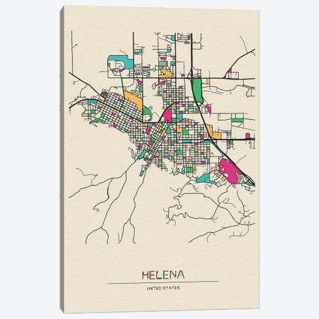 Helena, Montana Map Canvas Print #ADA255} by Ayse Deniz Akerman Art Print
