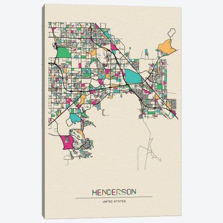 Henderson, Nevada Map Canvas Print #ADA257} by Ayse Deniz Akerman Canvas Art Print