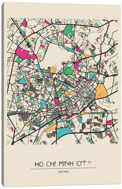 Ho Chi Minh City, Vietnam Map Canvas Art Print