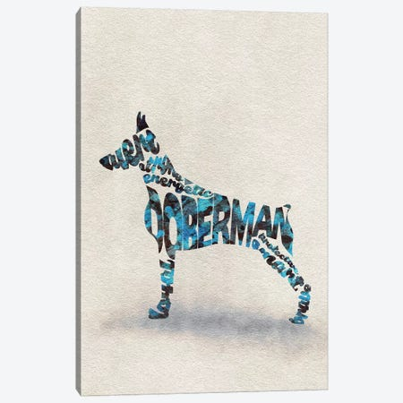 Doberman Canvas Print #ADA26} by Ayse Deniz Akerman Canvas Art