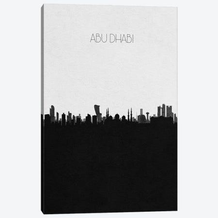 Abu Dhabi, UAE City Skyline Canvas Print #ADA275} by Ayse Deniz Akerman Canvas Print