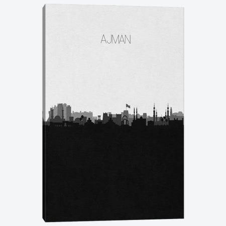Ajman, UAE City Skyline Canvas Print #ADA276} by Ayse Deniz Akerman Art Print