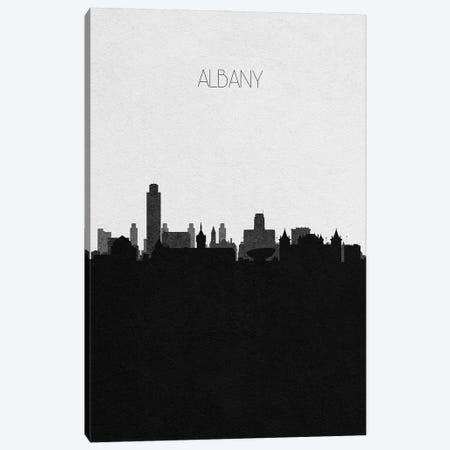 Albany, New York City Skyline Canvas Print #ADA277} by Ayse Deniz Akerman Art Print