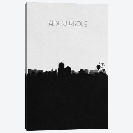 Albuquerque, New Mexico City Skyline Canvas Print #ADA278} by Ayse Deniz Akerman Canvas Artwork